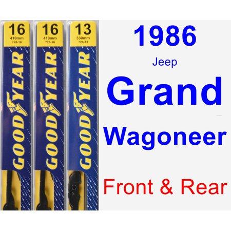 - 1986 Jeep Grand Wagoneer Wiper Blade Set/Kit (Front & Rear) (3 Blades) - Premium