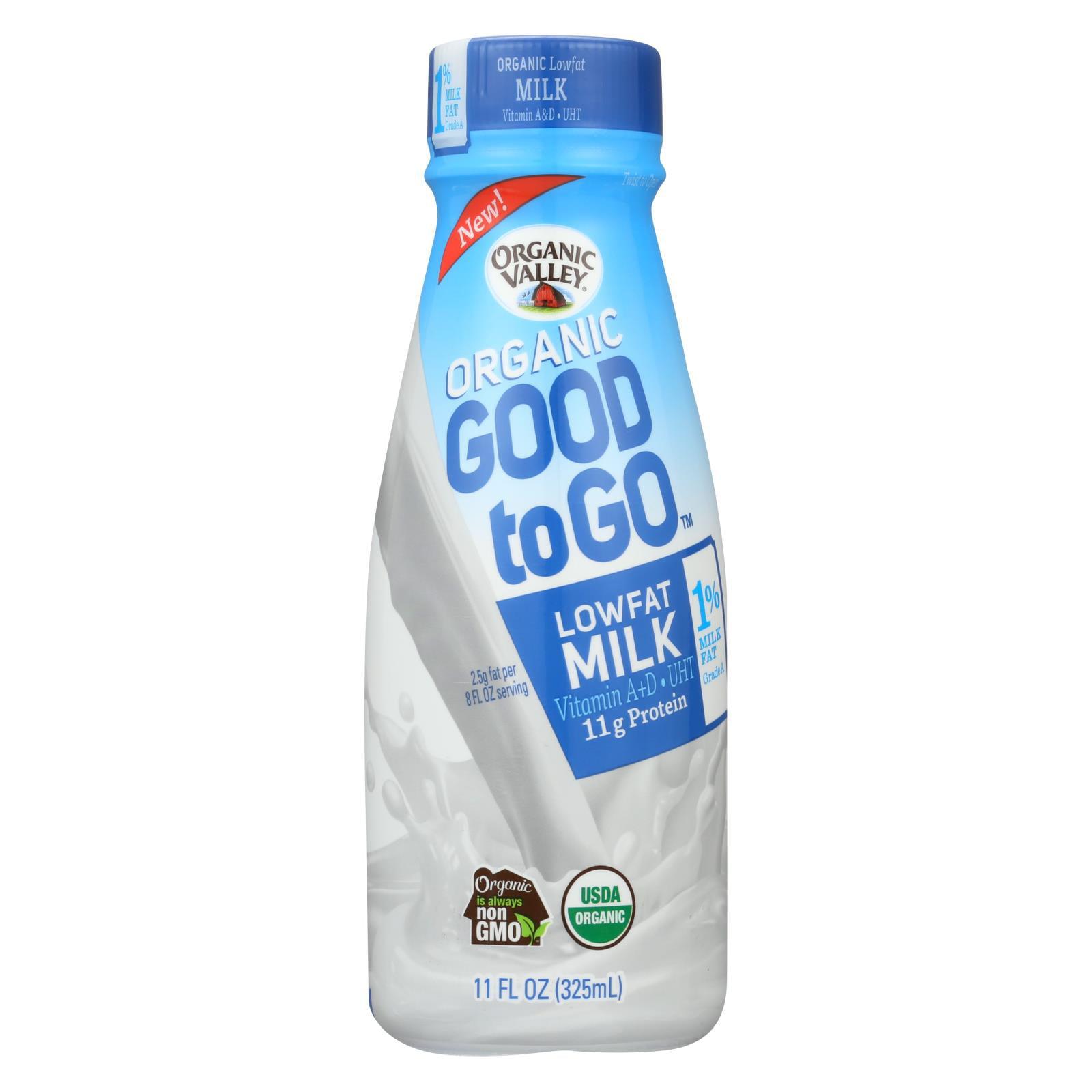 Price/case)Organic Valley Organic Milk - Good To Go Low Fat
