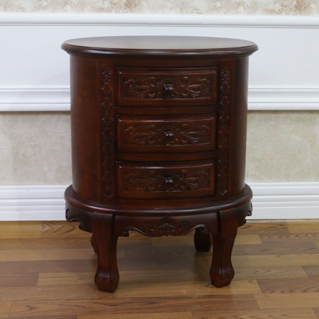 International Caravan Windsor Round 3 Drawer Night Stand ()
