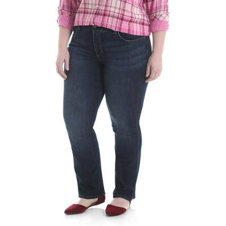 Women's Plus Size Midrise Straight Jean (Plus Size Women Levis)