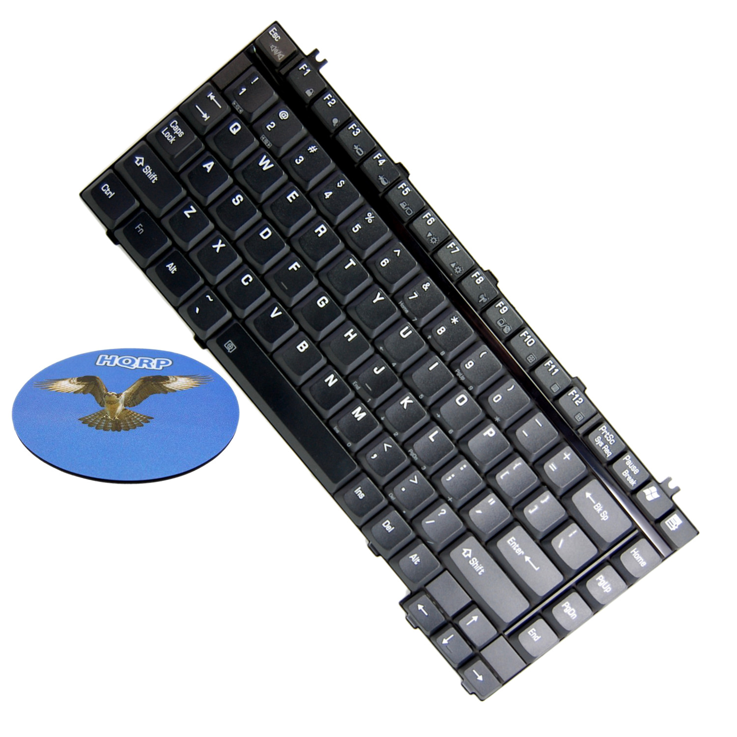 HQRP Laptop Keyboard for Toshiba Satellite M45-S265 / M45-S2651 / M45-S2652 / M45-S2653 Notebook Replacement plus HQRP Coaster