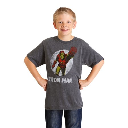 Marvel Iron Man Boys Charcoal Heather Burnout T-Shirt](Birthday Iron Man)