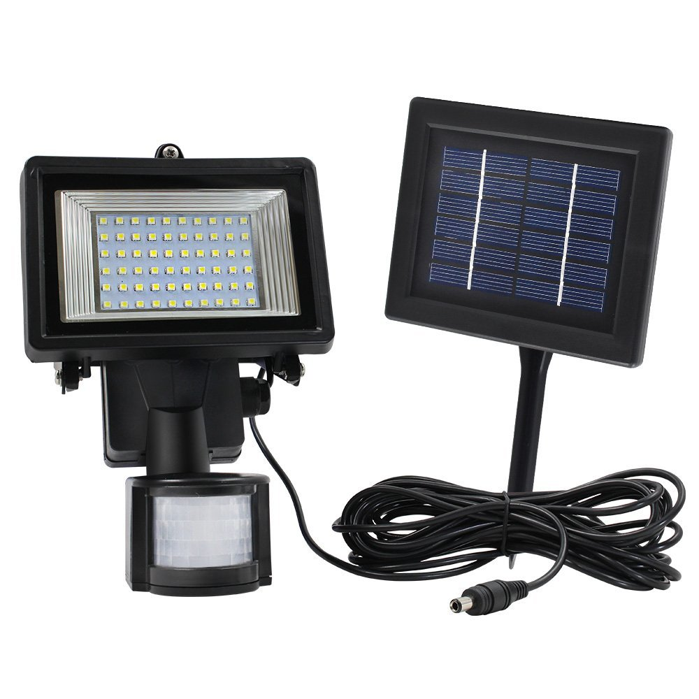 Waterproof Outdoor Solar PIR Motion Sensor 60 LED Security Light, Pack of 1 by