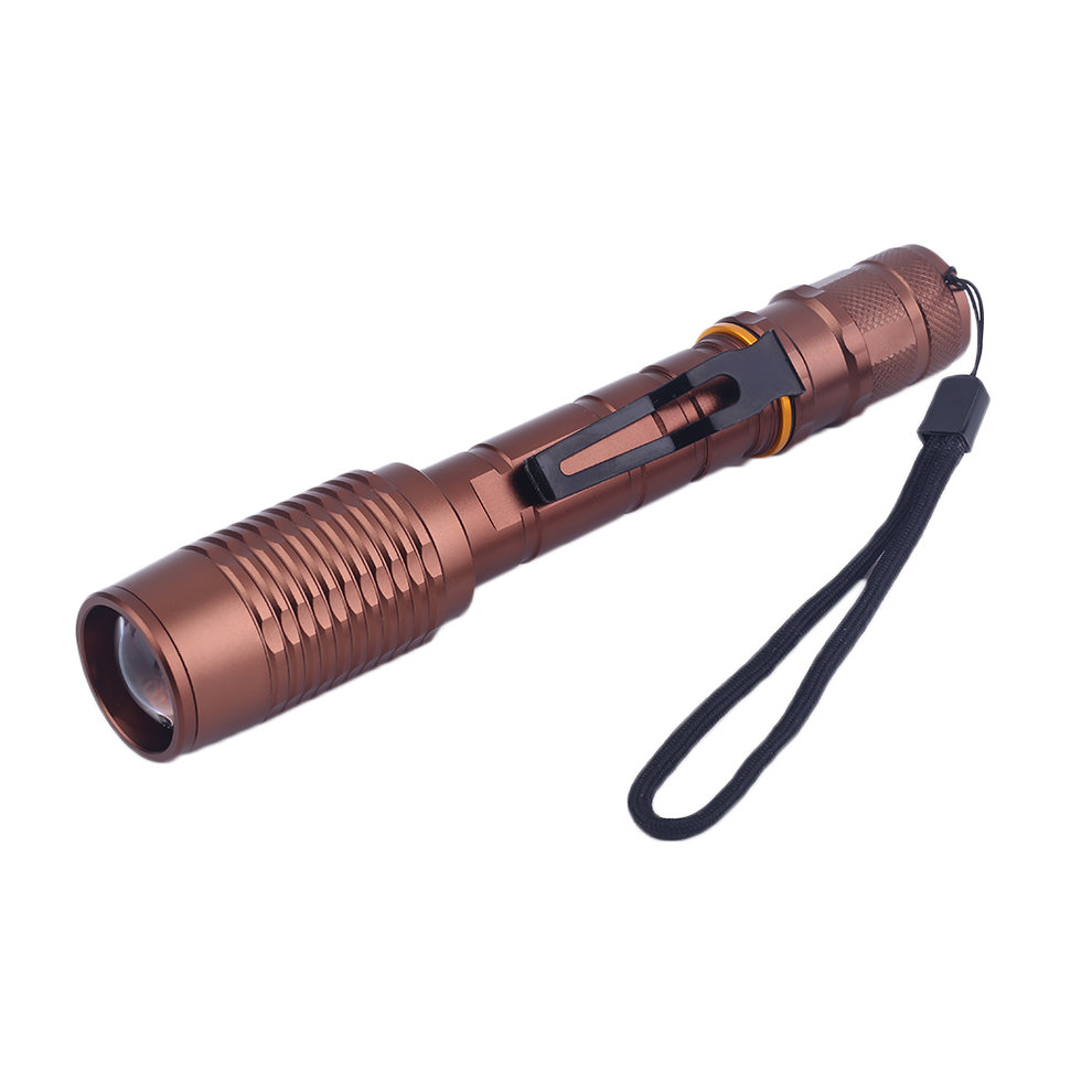 Super Bright 8000 Lumen Zoomable Waterproof C-XML T6 LED 18650 Focus Torch