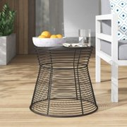 Pangaea Home & Garden Indoor Outdoor Metal Wire Stool or Side Table