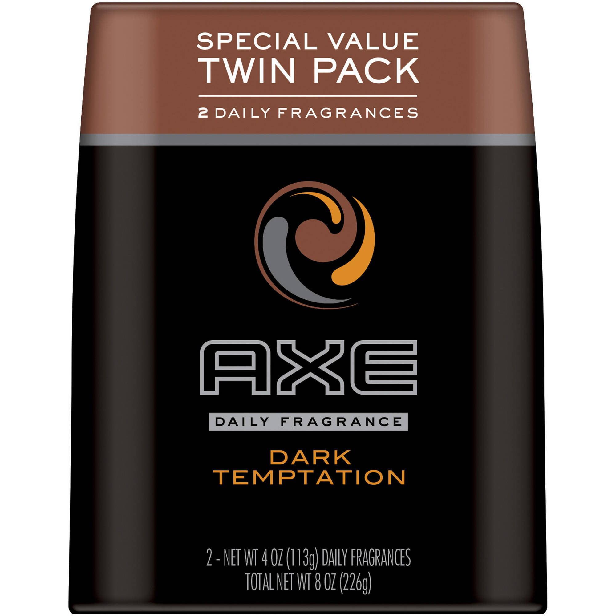 AXE Deodorant Bodyspray 2 Pack Dark Temptation,Twin Pack
