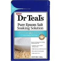 Dr Teals Pure Epsom Salt Soaking Solution, Detoxify - Energize 3 lbs (2 pack)