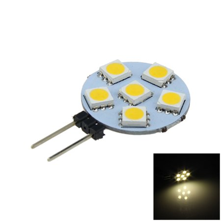 100lm Led - 12V G4 1W 100lm 3000K 6-SMD 5050 LED Warm White Polarity Free Car Instrument Light Reading Lamp