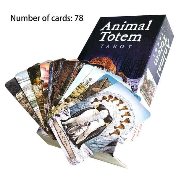 AUTCARIBLE 78 PCS/Set New Animal Totem Tarot Cards Deck Card Games