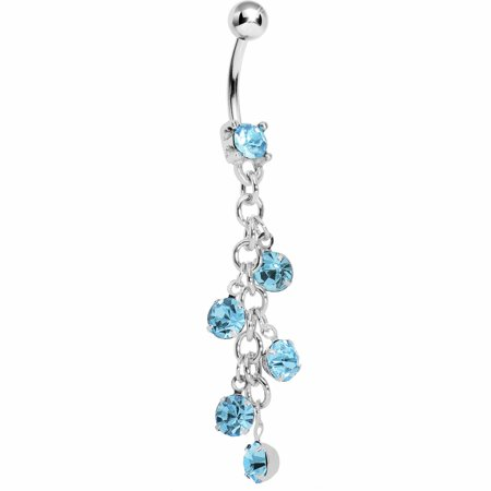 Brilliant Blue Sparkle Showers Belly Ring