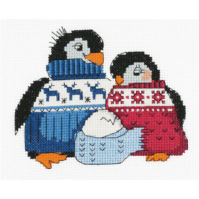 6.25 x 5 in. Friendly Family Counted Cross Stitch Kit