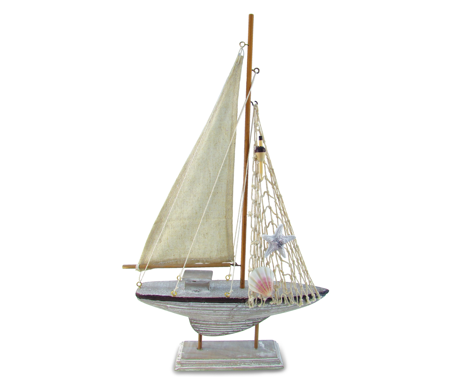 Nautical Decor Brown Sailboat by Puzzled