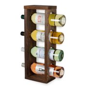 Rustic State Sonoma Wood Wine Rack Wall Mountable or Table Top Bottle Holder , Holds 4 Bottles