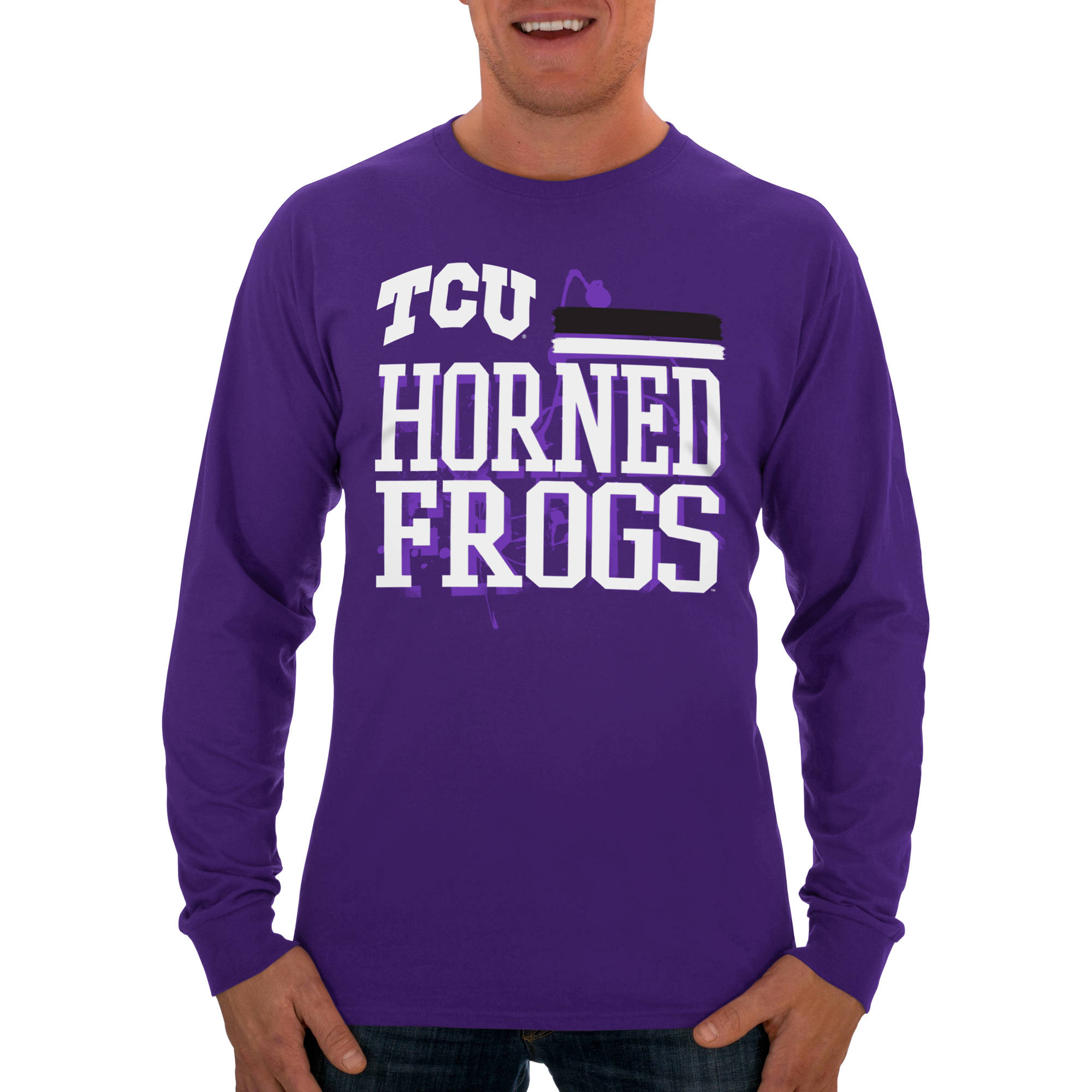 Russell NCAA TCU Horned Frogs Big Men's Classic Long  T-Shirt