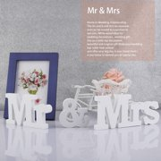 Wooden MR & MRS Signs