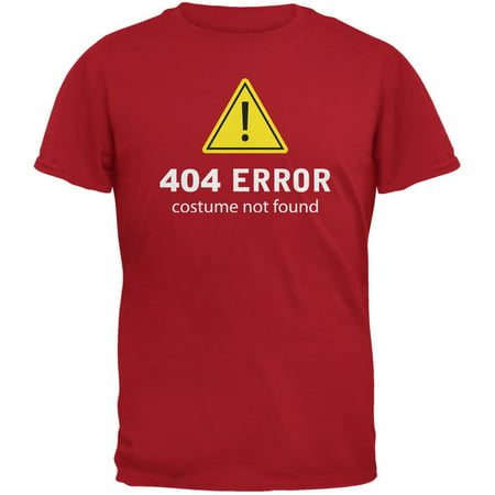 Halloween 404 Costume Not Found Red Adult - 404 Halloween Costume Not Found