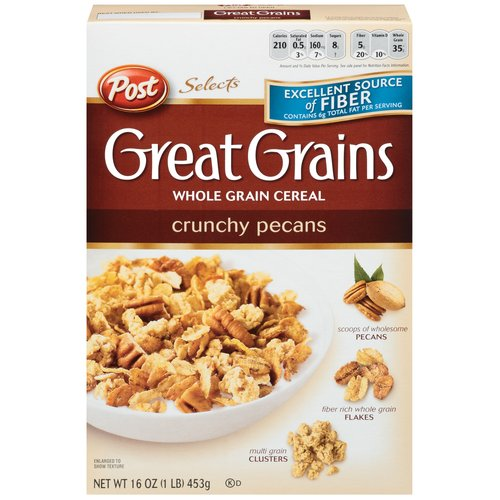Post Great Grains Crunchy Pecans Cereal, 16 oz