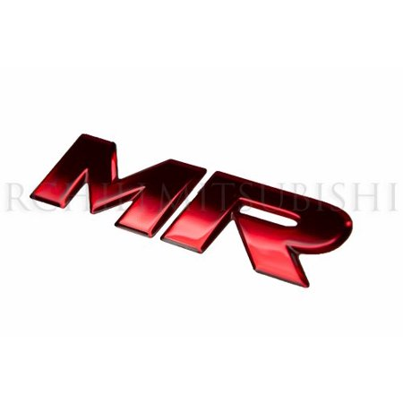 Mitsubishi Decal (2008 2009 2010 2011 2012 GENUINE MITSUBISHI LANCER EVOLUTION EVO X MR decal EMBLEM)