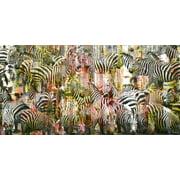 Parvez Taj Zebras Art Print On Premium Canvas