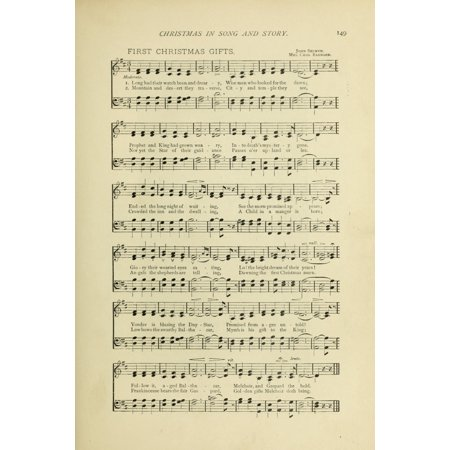 First Christmas Gifts Christmas in Song 1891 Poster Print ()