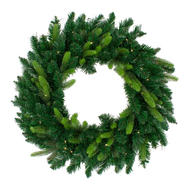 Pre-Lit Gunnison Pine Artificial Christmas Wreath - 48 ...