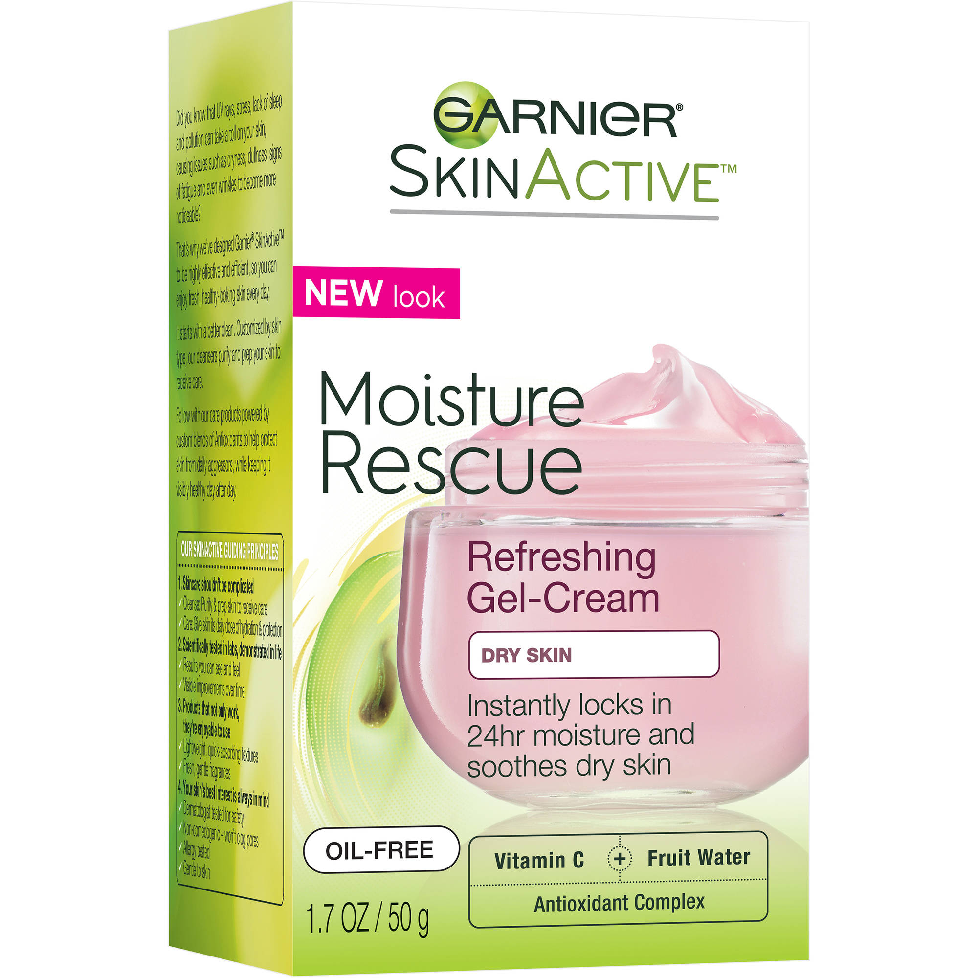 Garnier SkinActive Moisture Rescue Refreshing Gel-Cream for Dry Skin, 1.7 oz