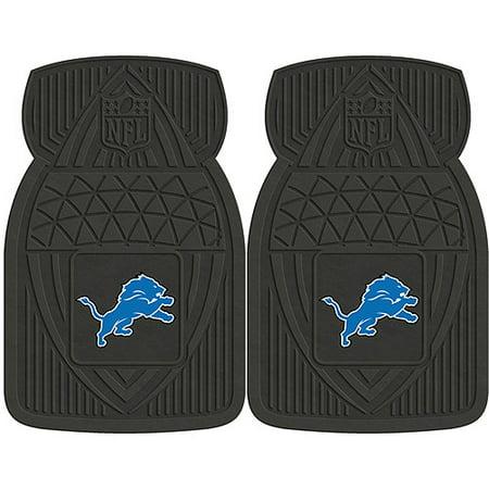 NFL 2-Piece Heavy-Duty Vinyl Car Mat Set, Detroit (Detroit Lions Tire Cover)