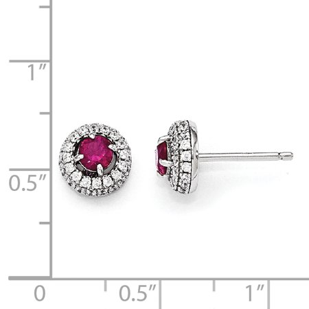 925 Sterling Silver Cubic Zirconia Cz Circle Post Stud Earrings Ball Button Fine Jewelry For Women Valentines Day Gifts For Her - image 1 de 6