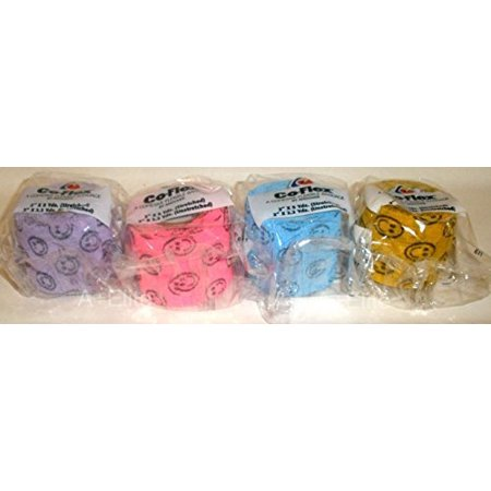 andover co flex 2x5yds smiley face bright color variety 4 pack cohesive