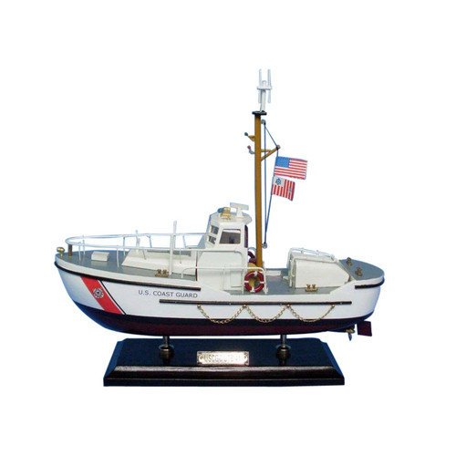 Handcrafted Nautical Decor 16'' Wooden United States Coast Guard 44 Foot Motor Lifeboat