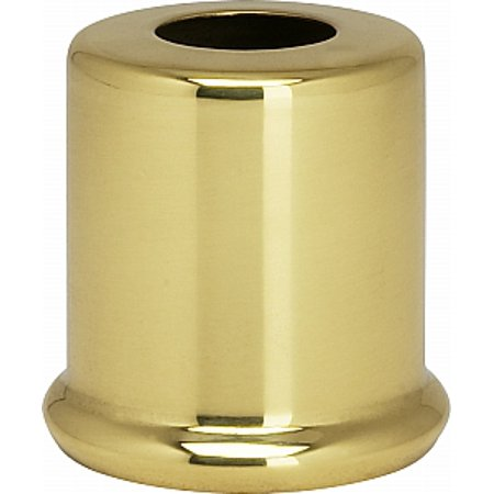 Satco Solid Brass Spacers 7/16in Hole 1in Height 7/8 in Diameter 1in Base Diameter Polished and (Large Diameter Polished Brass Screen)