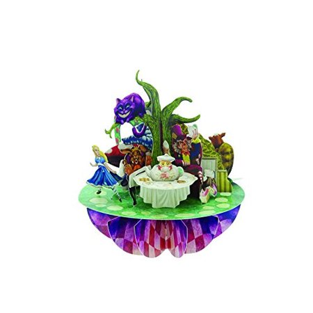 Santoro Pirouettes 3D Pop up Card, Alice in Wonderland - 3d Halloween Card