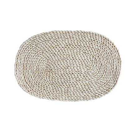 Home Handmade Grass Weaving Tableware Coaster Mat Round Placemat Cup Pad ()