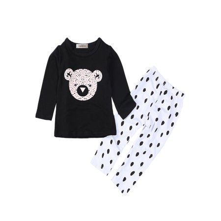StylesILove Cute Graphic T-shirt and Pants Baby Boy 2-pc Set (18-24 Months, Teddy Bear) - Teddy Bear Baby Outfit