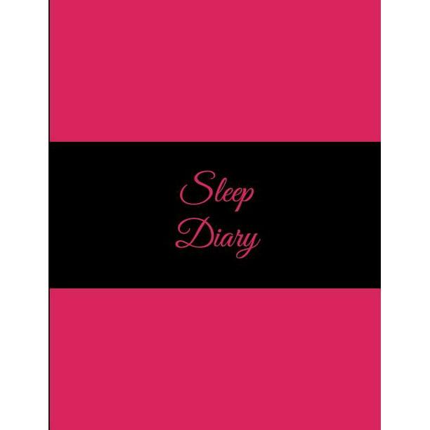 Sleep Diary: Pink, Sleep Journal Monitor Healthy Sleep