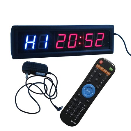 Interval Timer Stopwatch Wall Clock w/ IR Remote Control(14