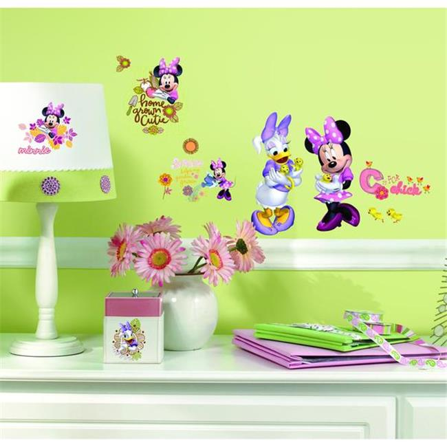RoomMates RMK2075SCS Mickey and Friends - Minnie Mouse Barnyard Cuties Peel and Stick Wall Decals