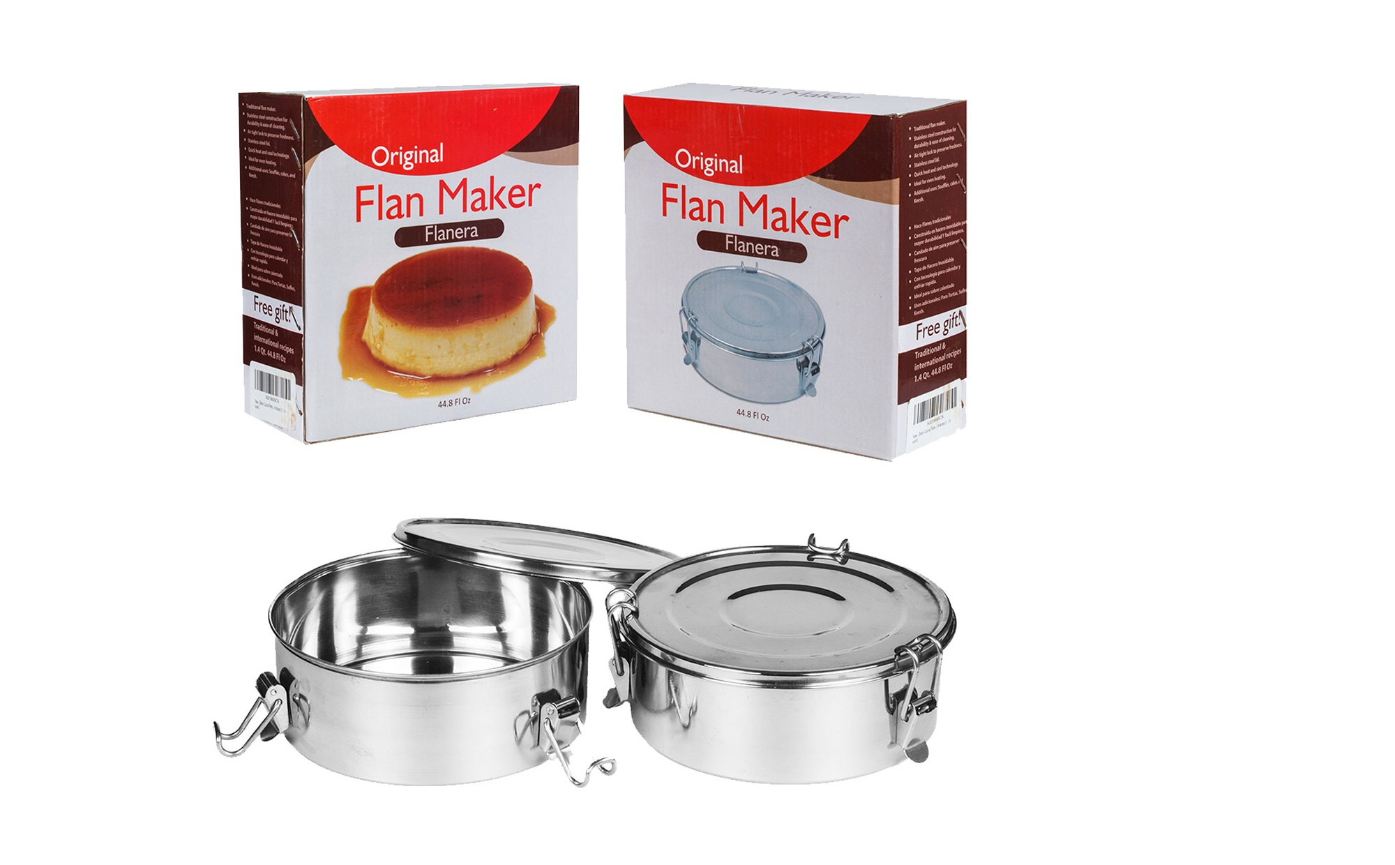 NEW Flan mold 1.5 Qt Flanera Stainless Steel
