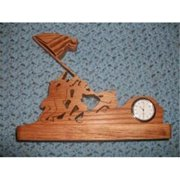 Fine Crafts 1221MIL Iwo Jima mini desk clock