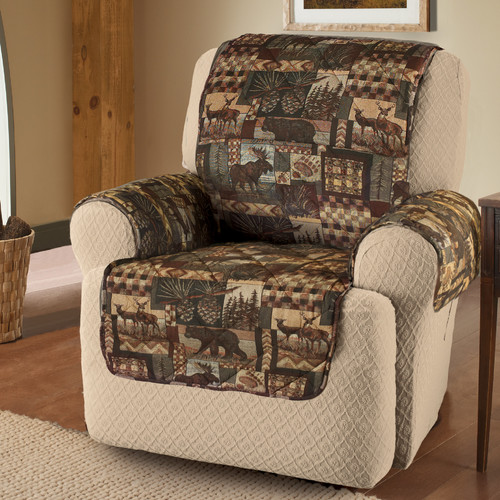 Mainstays Lodge Print Recliner Furniture Cover
