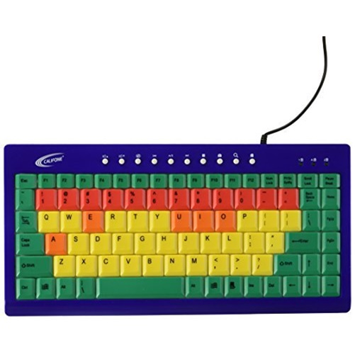 Califone 1544023 Color Coded Key Keyboard USB Interface, ABS Plastic