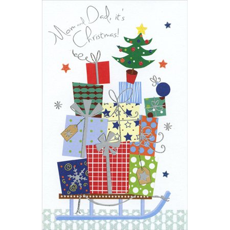 Freedom Greetings Gifts on Sled: Mom & Dad Christmas Card ()