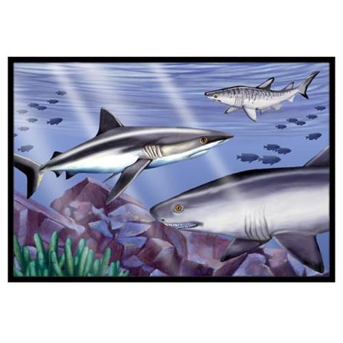 Sharks Doormat by Carolines Treasures