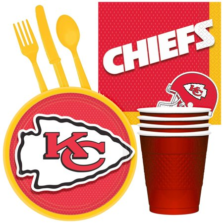 NFL Party Supplies Kansas City Chiefs Tailgate Party Pack For 32