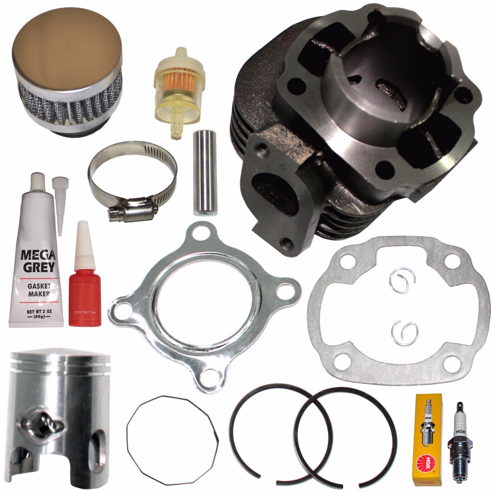 Top Notch Parts Yamaha Zuma Yw50 Yw 50 Piston Cylinder Piston Gaskets Top End Kit Set 2002-2011