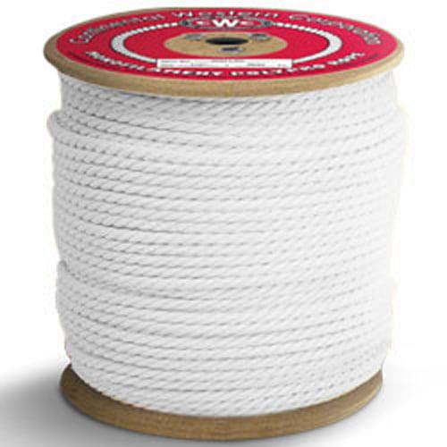 "CWC 3-Strand Polypropylene Rope - 3/16"" x 1200 ft., White"