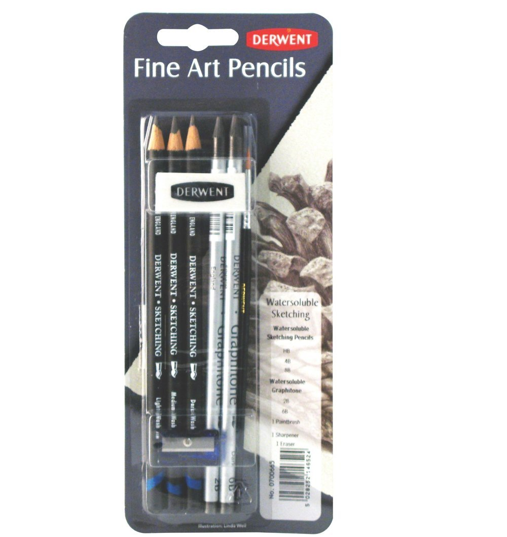 Derwent Fine Art Mixed Media Sets, Water-Soluble Sketch Mixed Media Set