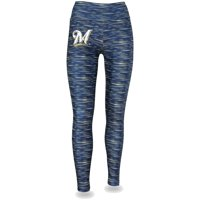Women's Navy/Gold Milwaukee Brewers Space Dye Leggings