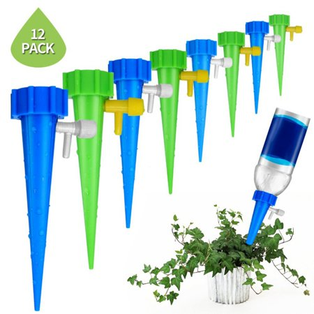 Marainbow Plant Waterer Self Watering Devices, Vacation Potted Plant Watering Spikes Automatic Drip Irrigation Water Stakes System with Control Valve Switch for Garden Plants Indoor & Outdoor](Graduation Stores)