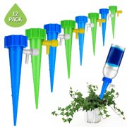 Marainbow Plant Waterer Self Watering Devices, Vacation Potted Plant Watering Spikes Automatic Drip Irrigation Water Stakes System with Control Valve Switch for Garden Plants Indoor & Outdoor